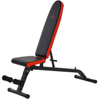 HOMCOM Multifunctional Foldable Sit-Up Dumbbell Bench Adjustable Backpad Exercise