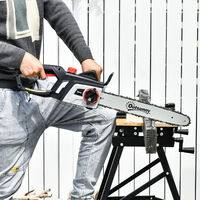 Outsunny Electric Chainsaw w/ Double Brake 40cm Guide Bar Power Wood Auto Chain Lubrication
