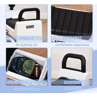HOMCOM 3-in-1 Licensed Mercedes-Benz Ride-On Car Truck Walker 12-36 Months White
