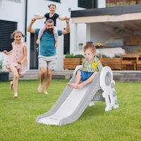HOMCOM Kids Space Astronaut Folding Slide Freestanding Play Activity Climber 1-3 Yrs