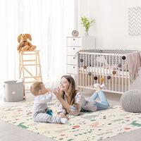 HOMCOM 200x150cm Kids Nature Patterned Foam Play Mat Reversible Floor Activity