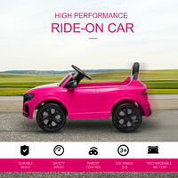 HOMCOM Kids Licensed Audi RS Q8 Electric Ride-On Car Vehicle Toy w/ Remote Pink