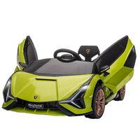 HOMCOM Kids Licensed Lamborghini SIAN Electric 12V Ride-On Car 3-5 Yrs Green