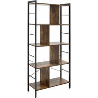 HOMCOM Industrial-Style Storage Shelf Bookcase Display Unit Rack Freestanding