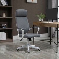 Vinsetto Office Chair High Back 360° Swivel Task Chair Ergonomic Desk Chair with Lumbar Back Support, Adjustable Height