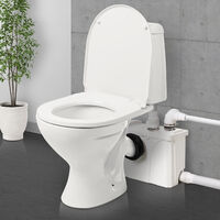 HOMCOM Sewage Pump 600W Dirty Waste Water Marine Toilet Disposal