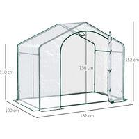 Outsunny PVC Greenhouse Walk-in Mini Portable Outdoor - 180L x 105W x 150H cm
