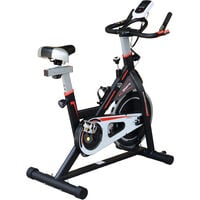 HOMCOM 8kg Spinning Flywheel Spin Exercise Bike Home Fitness w/ LCD Display - Black