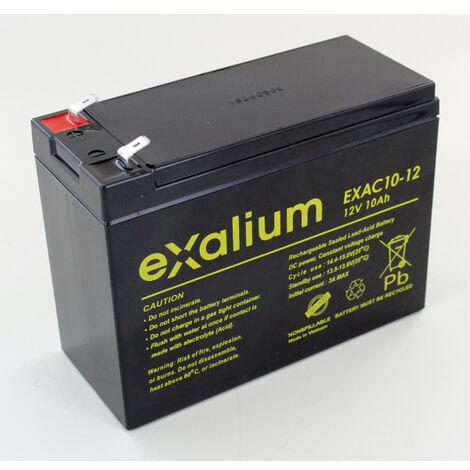Batterie plomb cyclique 12V 10Ah Exalium EXAC10-12