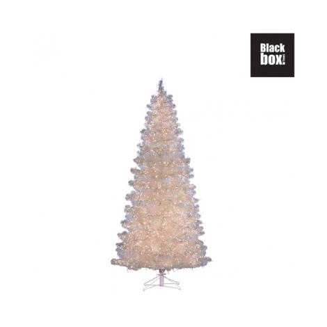 Decorazioni Natalizie 94.Albero Natale Bianco C Luci 1848 Led H 185 Diam 94 Cm Edelman