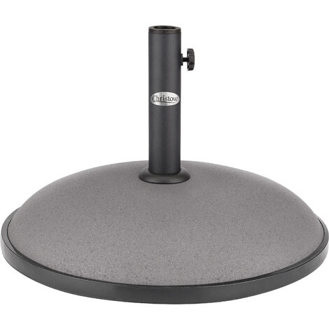 Christow 25kg Round Parasol Base - Grey