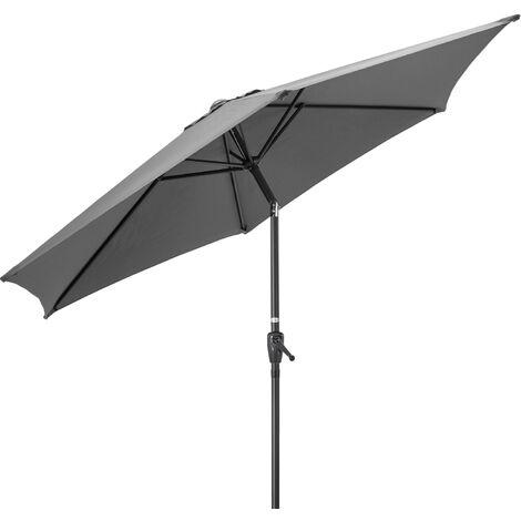 Christow Aluminium 2m Tilting Parasol With Crank Handle - Grey