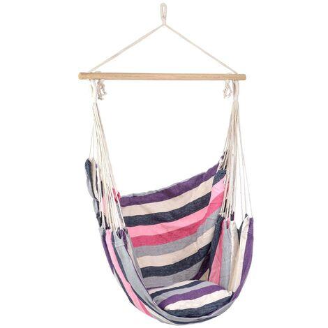 Christow Cushion Hammock Swing Chair - Purple