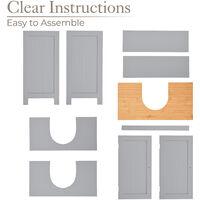 Grey & Bamboo Sink Cabinet