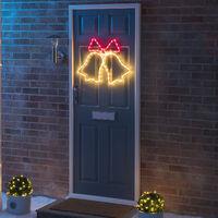Flashing LED Christmas Bell Rope Lights - Single Bell