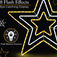 Large Star Rope Light - Warm White & White