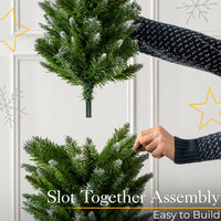 Frosted Spruce Pencil Tree (6ft)