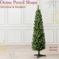 Frosted Spruce Pencil Tree (5ft)