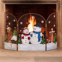 Snowman Fireguard (H49cm)