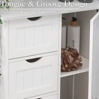 White 4 Drawer Cabinet