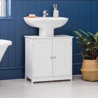 White Sink Cabinet
