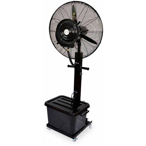 AgoraDirect - Ventilateur Brumisateur Exterieur 260W/220V, Ventilateur Industriel Oscillant Permanent Avec Réservoir D'eau De 41L, 9h De Temps D'utilisation Avec Un Réservoir Plein