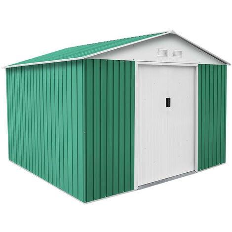 Caseta Metálica Gardiun Bristol 7,74 m² Exterior 241x321x205 cm Acero Galvanizado Verde - KIS12804
