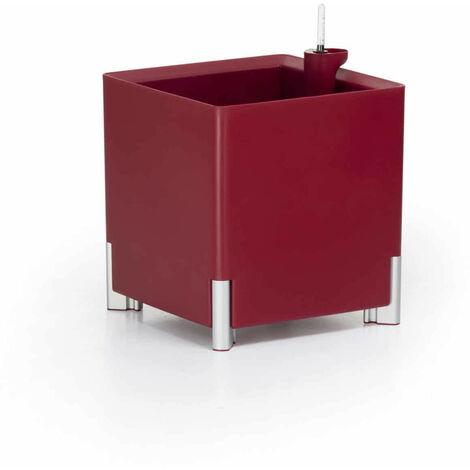 Jardinera cuadrada autorriego roja | MONDUM Mediterráneo - 50151011541962