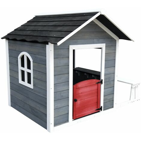 Casita Infantil de Madera Outdoor Toys Chloe 1,2 m² de  116x138x132 cm con Banco Exterior