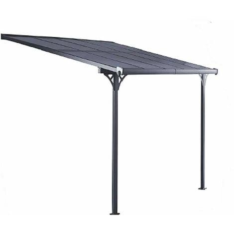 Pérgola de Pared Gardiun Elliot - 9,5 m² 314x300x225/270 cm Aluminio y Policarbonato - KIS13009