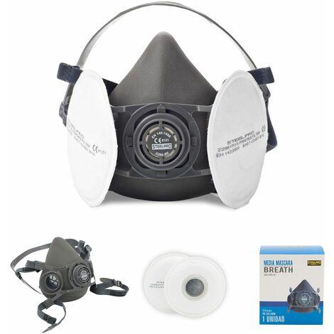 Mascarilla Semi Máscara Steelpro con Filtro de Protección FP3 Reutilizable Talla S - 49991062567810