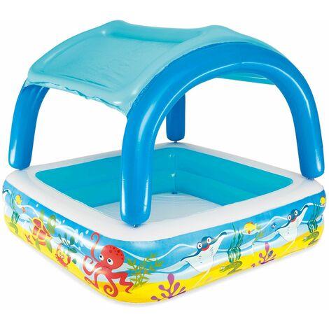 Piscina Hinchable Infantil con Parasol Bestway Canopy 147x147x122 cm