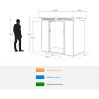 Caseta Metálica Gardiun Kingston 3 m² Exterior 142x213x184 cm Acero Galvanizado Silver/Blanco - KIS12134