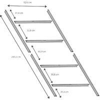 Estructura Metálica para Pre-instalación de Suelo Casetas Gardiun de 4,72 m² - 251 x 171 cm - KIS14006
