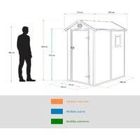 Caseta de Resina Gardiun Marsala Crudo/Marrón 2,47 m² Ext. 190x132x203 cm - KSP38160