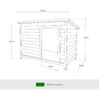 Caseta de Perro Gardiun Lupy 76x116x82 cm a 1 Agua - Perro Grande - KNH1260