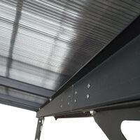 Pérgola de Pared Gardiun Elliot - 11 m² 435x254x220/260 cm Aluminio y Policarbonato- KIS13011