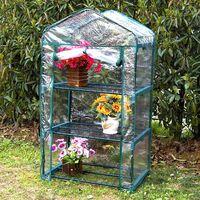 Invernadero PVC Gardiun Leaf I 49x69x125 cm 3 Estantes - KIG12136
