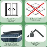 Caseta Metálica Gardiun Liverpool 2,84 m² Exterior 129x220x214 cm Acero Galvanizado Gris Antracita - KIS12985