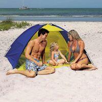 Cortavientos Playa Bestway 130x200x90 cm Azul/Amarillo