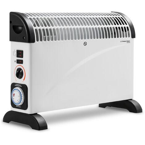2000w NERO ELETTRICO convettore riscaldatore con Turbo Boost Timer e Termostato