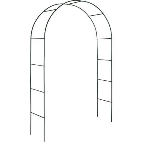 Arco para enredaderas aprox. 240cm - arco para flores estable, arco de jardín de acero elegante para plantas, soporte para planta trepadora - verde