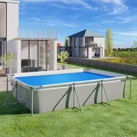 Cubierta solar para piscina azul rectangular - lona para cubrir piscinas, cubre piscinas flotante para cortar a medida, cobertor solar ligero para piscina - 160 x 260 cm - azul