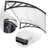 Marquesina transparente - toldo moderno para puertas de entrada, marquesina para ventanas exteriores con soportes laterales, marquesina para escaparates de policarbonato - 120 cm - transparente