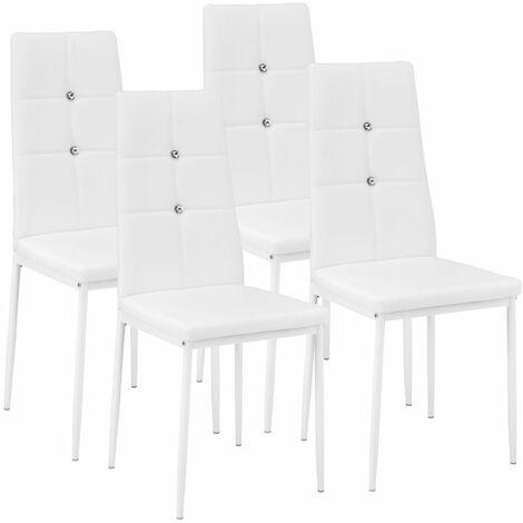 Set Di 4 Sedie Per Sala Da Pranzo Julien Sedie Moderne Sedie Sala Da Pranzo Sedie Da Pranzo Bianco