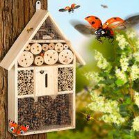 casetta per gli insetti utili in legno - casetta per insetti - marrone
