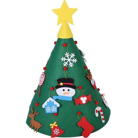 Centrotavola Natalizi X Bambini.Albero Di Natale Giocattolo Per Bambini In Feltro Con 15 Addobbi Natalizi 70cm