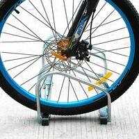 Parcheggio 2 Posti Porta Bici Stand Rastrelliera Cavalletto Biciclette Acciaio