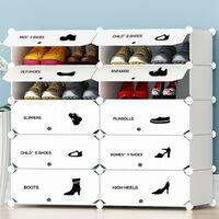 Scarpiera Modulare 10 Cubi Mobile Porta Scarpe Componibile 20 Paia Salvaspazio