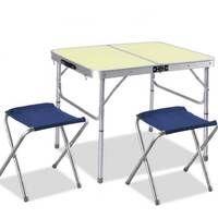 Tavolo Tavolino Portatile Pieghevole da Campeggio per Picnic Alluminio 75X55X60